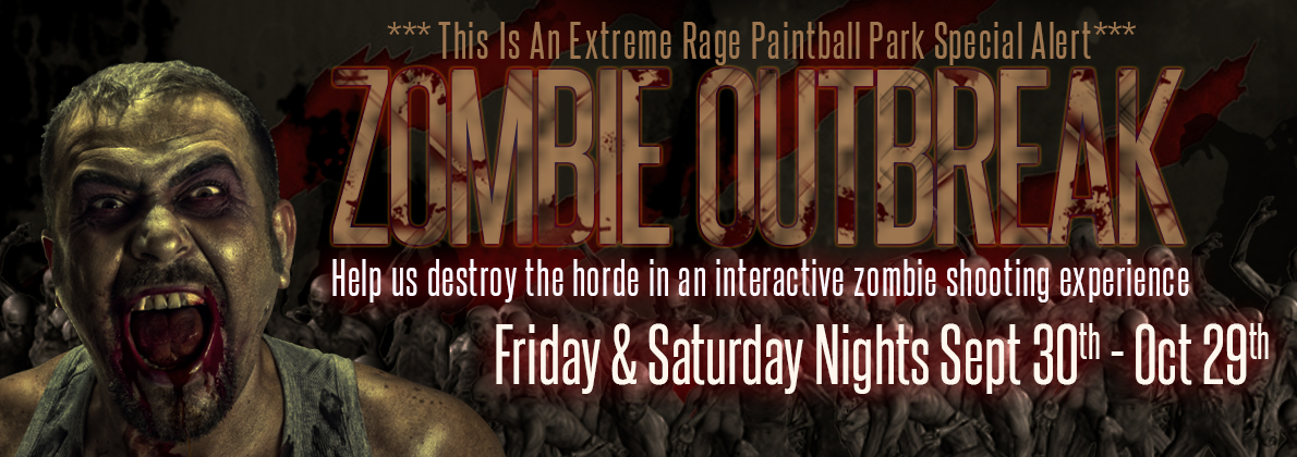 Zombies at Extreme Rage Paintball Park of Fort Myers